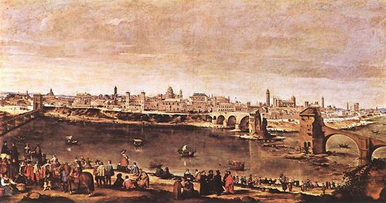 """1647 Веласкес Диего """"Вид Сарагоссы."""""""