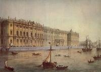 Вид Зимнего дворца с Невы (И.И. Шалерман)