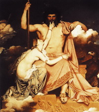 Зевс и Фетида (Ж.Ог.Д. Энгр, 1811 г.)