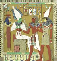 Осирис, Исис и Гор (фреска)