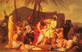Братья Иосифа находят чашу в мешке Вениамина (А.А. Иванов)