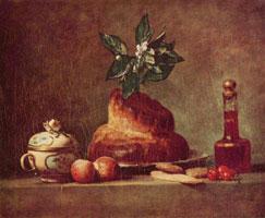 Натюрморт с бриошью (Ж. Шарден)